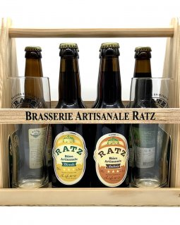 Bière Coffret Ratz Coffret découverte 6 x 33 cl2 verres et sous bocks