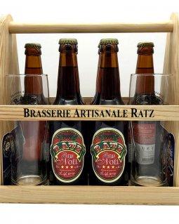Bière Ambrée Noel RatzCoffret 6 x 33 cl2 verres et sous bocks