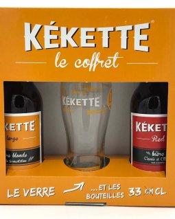 Bière Coffret Kékette 2x33 cl + 1 verre